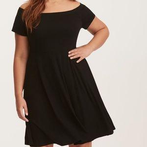 Torrid Jersey Off Shoulder Skater Dress Size 2x